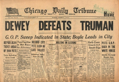 Chicago Daily Tribune Dewey Defeats Truman 1392